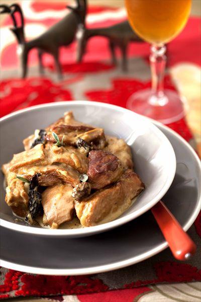 Sauté de veau au cidre et aux morilles : plat mijoté et gourmand de Noël