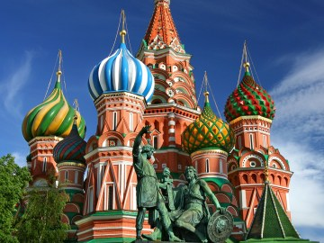 Moscow Red Square Russia Saint Basil's Cathedral
