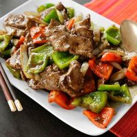 Pepper Steak Stir Fry  Recipe