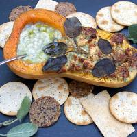 BLUE CHEESE and SAGE ROASTED BUTTERNUT SQUASH APPETIZER
