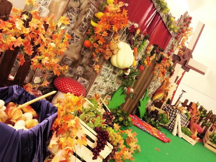 Paola Maresca organizzazione evento family day Edison. Evento teatrale sul tema dell'alimentazione e dell'expo con burattini giganti , costumi, scenografie e intrattenimenti