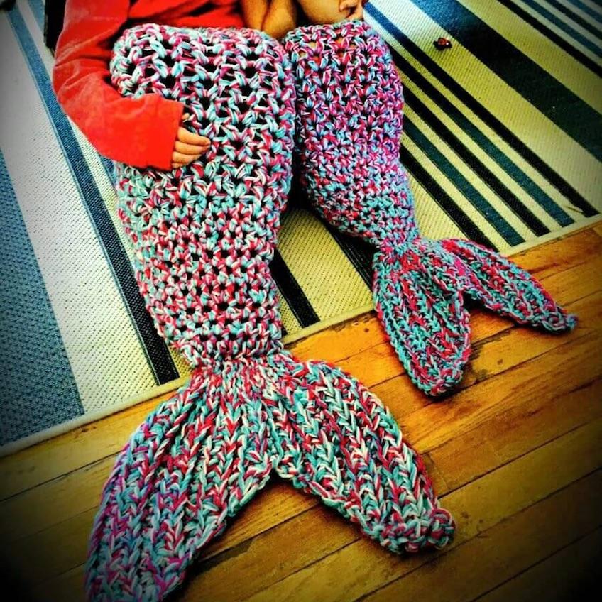 Mantas de sirena de ganchillo - Mantas de bebe hechas a ganchillo ...