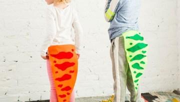 Haz una cola de dinosaurio para los disfraces