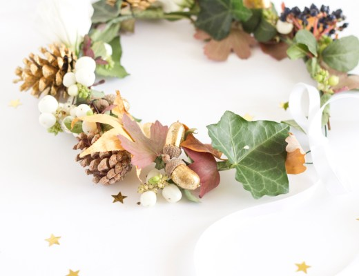DIY couronne automnale - www.paperboat.fr