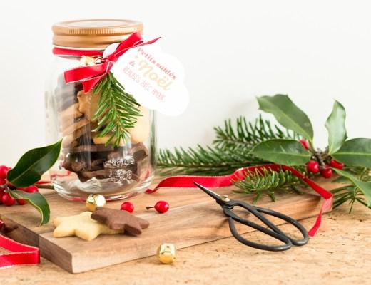 DIY Noël : des bocaux de sablés à offrir - www.paperboat.fr