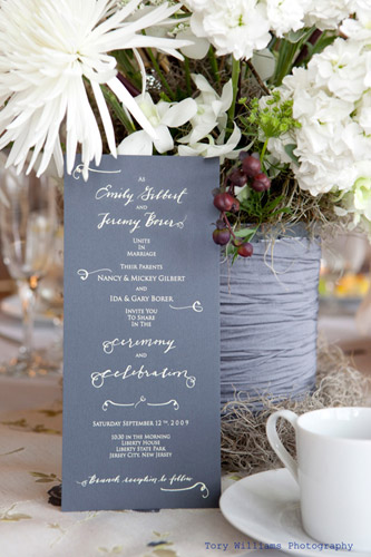 Paperfinger Calligraphy Wedding Invitation