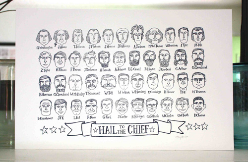 1Canoe2 Hail to the Chief Presidents Letterpress