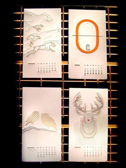 Meadowlark Creative Letterpress 2010 Calendar