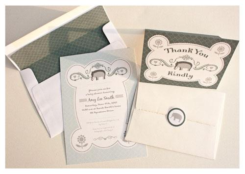 Printable Elephant Baby Shower Kit