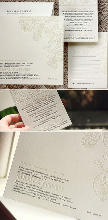 Bespoke Press Letterpress Wedding Invitations
