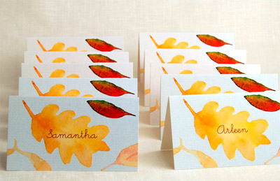 Beverly Brown Printable Fall Leaf Place Cards