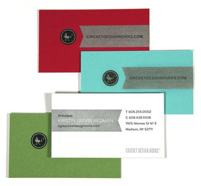 Cricket Design Works Letterpress Business Cards
