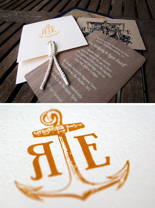 Nautical Wedding Invitations Carolyn Sewell
