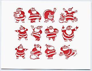 Dear Olive Santas Card