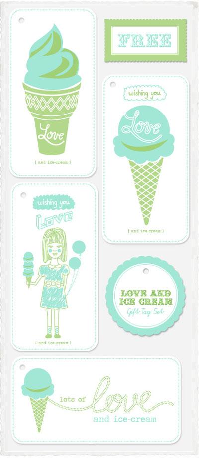 Printable Ice Cream Gift Tags