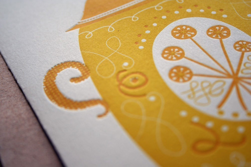 Letterpress Teapot Cards by Erin Wallace