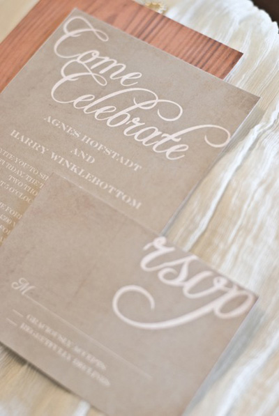 DIY Draper Wedding Invitations