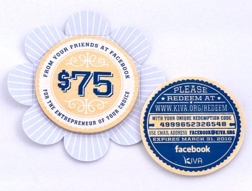 Facebook Letterpress Holiday Gift