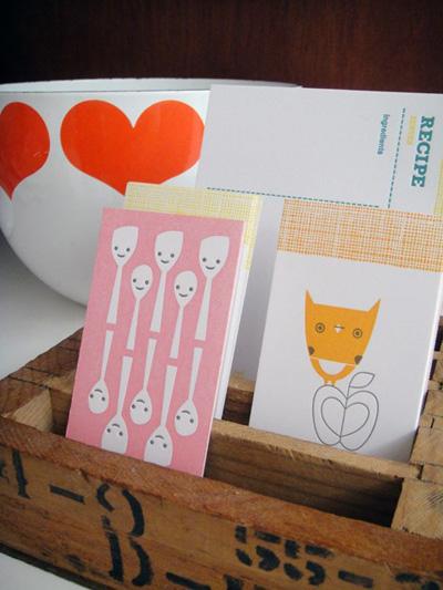 Igloo Suzy Ultman Letterpress Recipe Cards