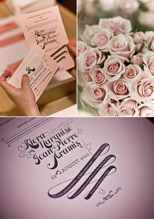 JP + Kiera Letterpress Wedding Invitations