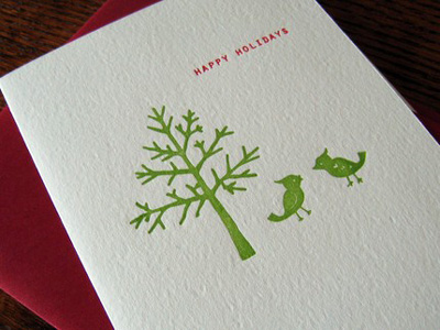 Lucky Bee Letterpress Holiday Cards