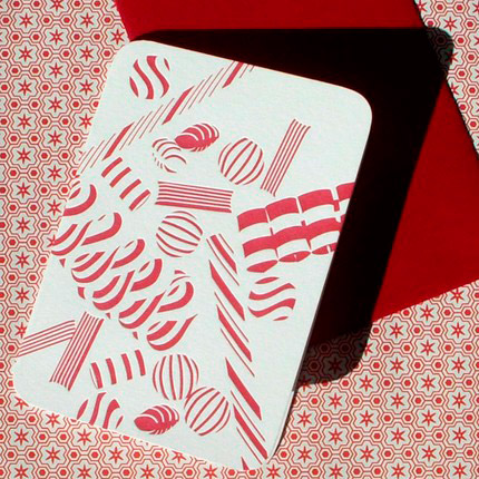afavorite Letterpress Holiday Cards