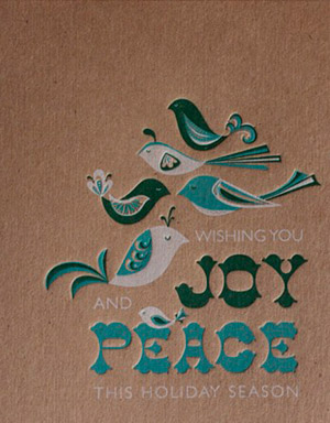 Elum Letterpress Holiday Cards