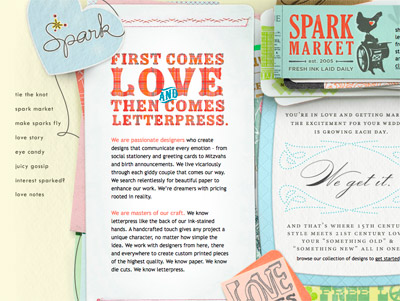 Letterpress Love Spark Stationery