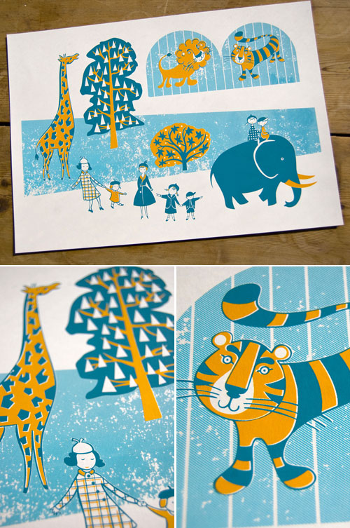 Zoo Screen Print by Joanna Howell