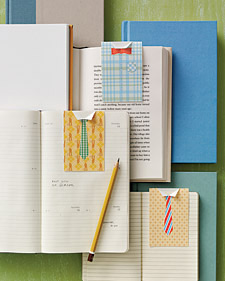 Martha Stewart Father's Day Bookmarks