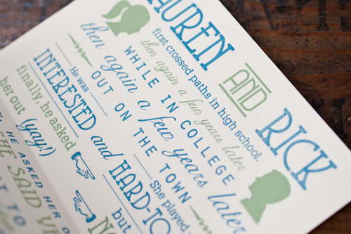 Meant to be Sent Letterpress Wedding Invitations