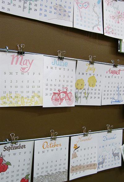 Paisley Tree Press 2011 Letterpress Calendar