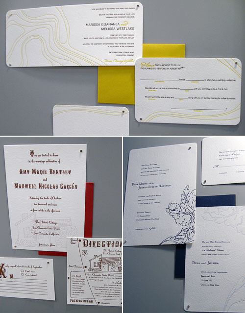 Paper Boat Studios Letterpress Wedding Invitations