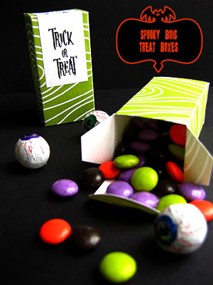 Printable Halloween Treat Boxes