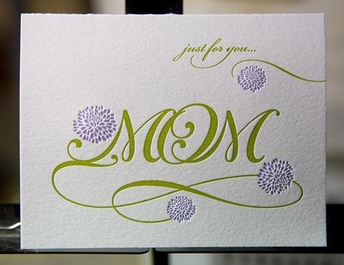 Red Oak Letterpress Mother's Day Card