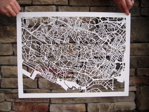 Karen O' Leary Singapore Papercut Map