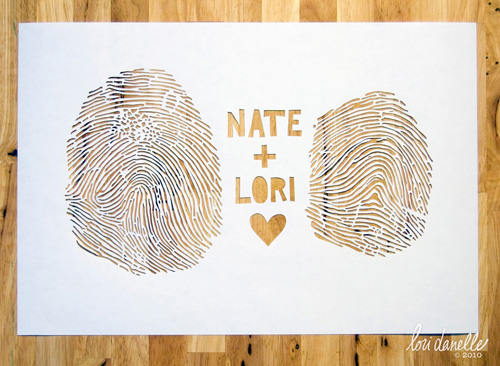 Lori Danelle Fingerprint Paper Cuts