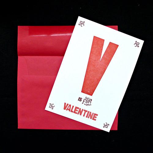 Hijirik Letterpress Valentine's Day Cards