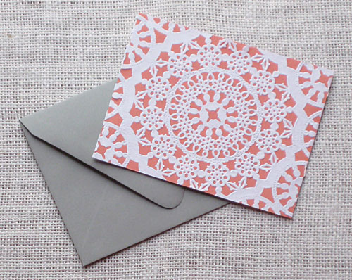 Doily Valentine's Day Cards
