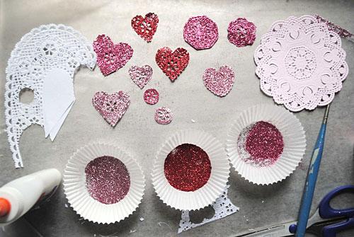 Glitter Heart Valentines