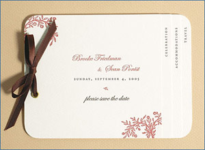 Dauphine Press Floral Save the Date Cards