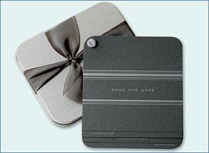 Dauphine Press Metallic Save the Date Cards