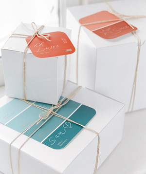 Paint Chips Gift Tags
