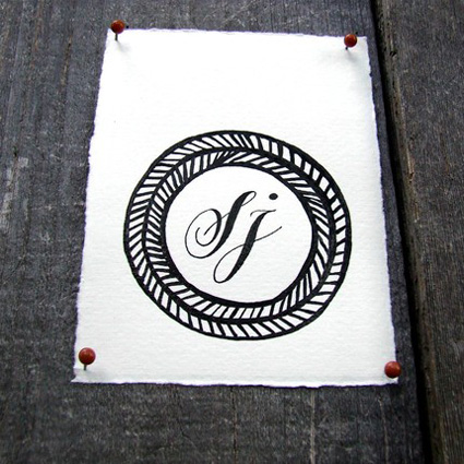 Personalized Calligraphy Monogram