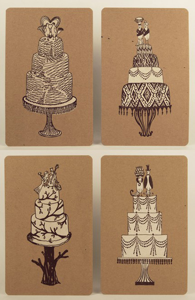 Bird Topper Letterpress Cards
