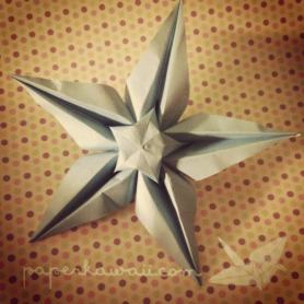 video Tutorial star flower star origami kawaii fold flower cute origami cute