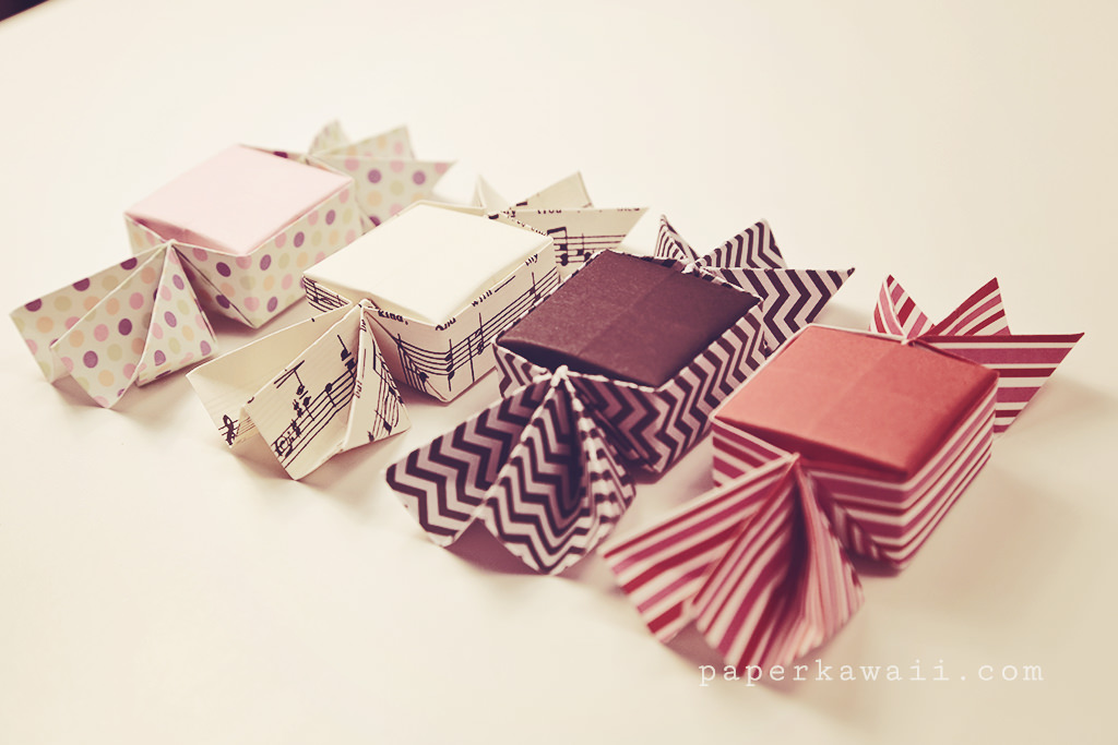 Origami candy box tutorial 03