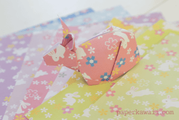 10 free rabbit origami papers