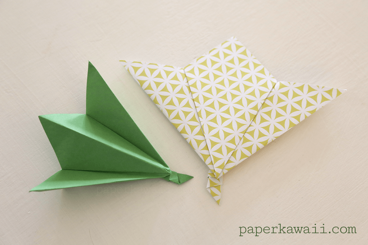 Origami leaf tutorial paper kawaii - Origami paper tutorial ...
