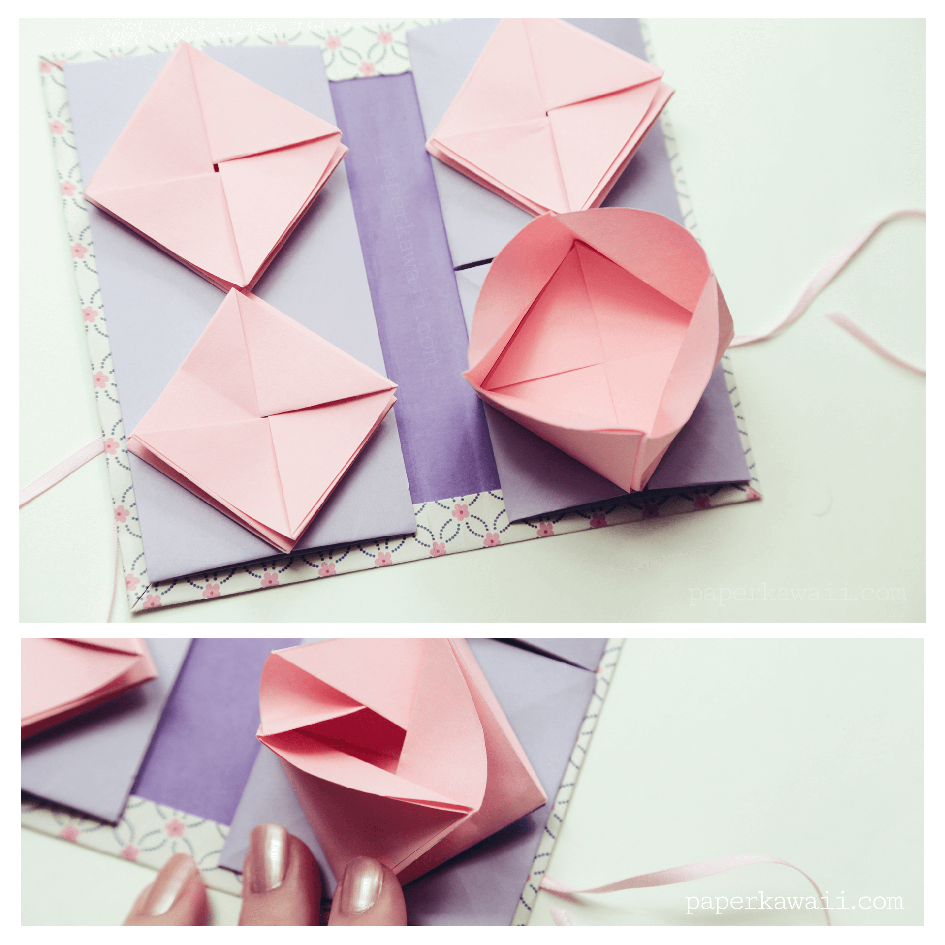 Origami chinese thread book video tutorial paper kawaii - Origami paper tutorial ...